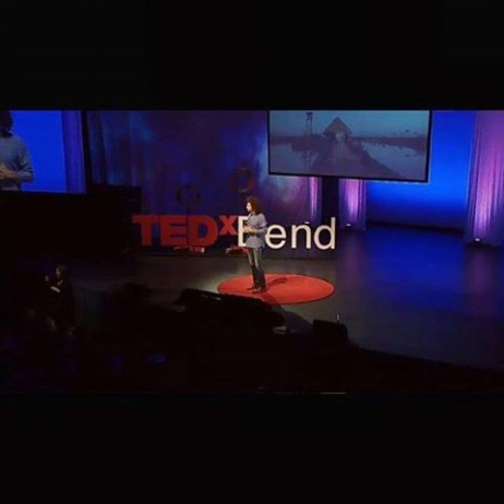 When my friend Moe Carrick approached me in Chile last year and suggested I apply to speak at @tedxbend in the USA I was humbled. As preparations began I started to feel the immense responsibility of honoring my family's story with utmost truth and vulnerability on this global platform. Since elements of my story became public just over a year ago on Humans of New York, I knew that a time must come when I'd have enough courage to share my story myself. I understood a glimpse of what it could mean for others after the immensely beautiful and loving connections I made through the spread of the HONY posts. I also knew that in doing so, I would have to face my most painful memories and I knew that this would be one of the hardest things I would ever have to face.  The last few days were beyond tough; I must have practiced my talk in front of a wall or window over 50 times, when I finally went for rehearsals the day before the event I was nervous and froze several times. The thought of repeating this in front of 1400 people and a larger live streaming audience terrified me. When I woke up the day of the event I was nervous; I couldn't eat and rehearsal lingered on my mind. I was chosen to go last which was another blessing but it didn't make things easier. As the day unfolded and I began to listen to the other speakers and feel the energy of the crowd things began to shift. I became humbled by the inner beauty and passion of my fellow speakers and their ability to convey their message with sincerity and openness. There are no words to describe how special the audience was. It's so rare to stand on stage with 1400 strangers and feel this kind of immense sense of love and gratitude that almost makes your heart swell with peace. As soon as I began walking towards that infamous TED red dot on stage, all my tension melted away and I felt completely grounded and present. I felt Marwa's presence with me the whole time. Towards the end of the talk it was as if the room had began to float with all of us in it.  The @ted video should be out within 3 weeks from now, and I'll be sharing the link with everyone then. Thank you.