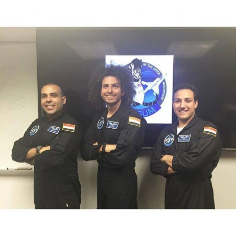 The Egyptian space team :) Imagine my surprise when I travelled half way across the world to meet 14 other astronaut candidates only to find that 20% of us are from Egypt! After spending a week with these men, I can definitely say it's been both an honor and a pleasure to get to know them. Ahmed Farid is a space-craft controller/commander at the German Space Operation Center and Abdelraouf Elwaqad is an Aerospace Engineering student at Embry-Riddle University. Onwards and upwards gentlemen! #EGYPTinSPACE #AstronautTraining